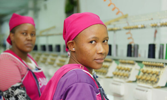 Workers in Lesotho