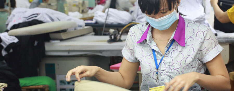 Vietnamese factory worker