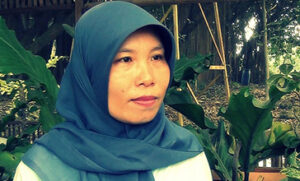 Sudarmi is the chief supervisor at a factory in Bogor