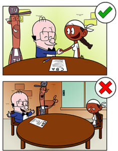 Illustration shows how to negotiate contracts