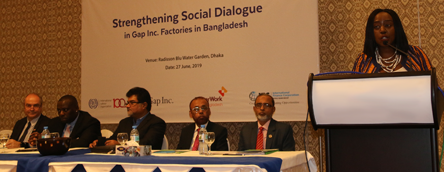 ILO and Gap Inc. launch new initiative to improve industrial relations in Bangladesh garment industry