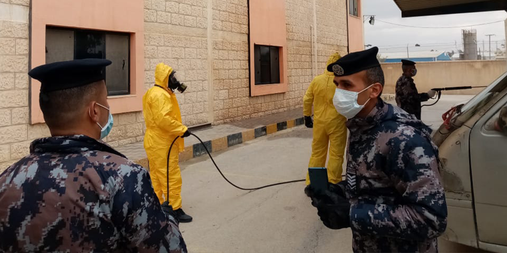 Several factories conducted comprehensive sanitizations of their premises with the support of the Jordanian Civil Defense as a precautionary measure to curb the spread of coronavirus and protect the health of the workers.