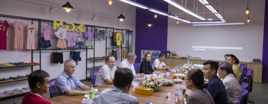 G4 Deputy Heads of Mission visit Thuan Phuong Group, a Better Work Vietnam participating factory in Long An province